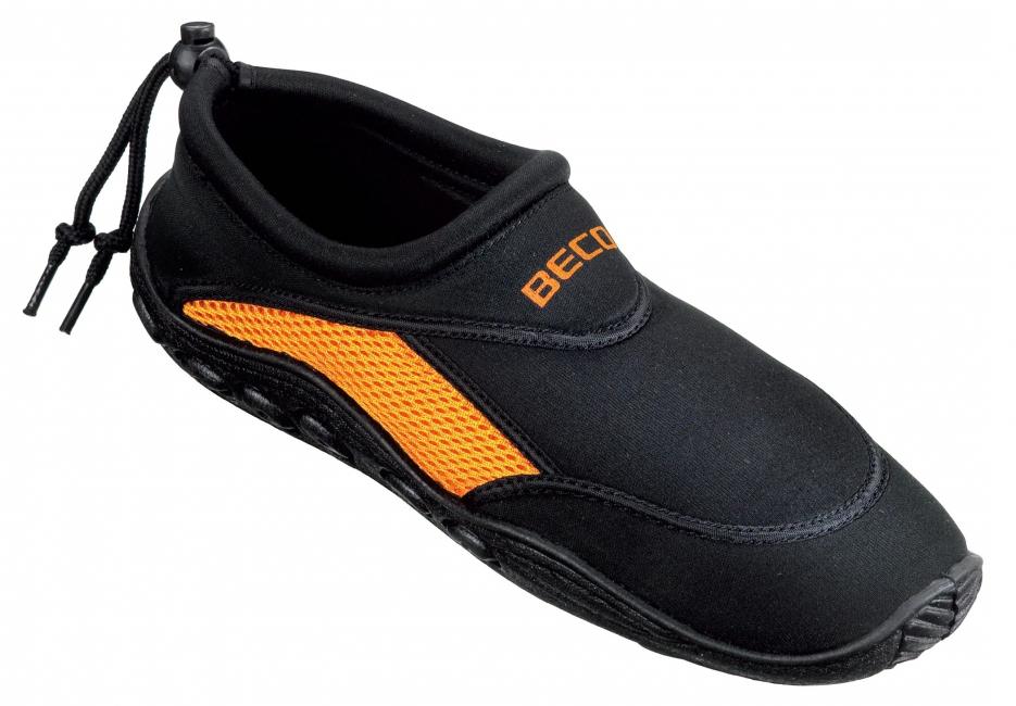 Dames waterschoenen neopreen zwart oranje