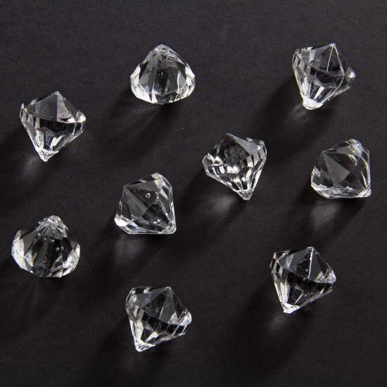 Deco Diamantjes transparant van 20 mm