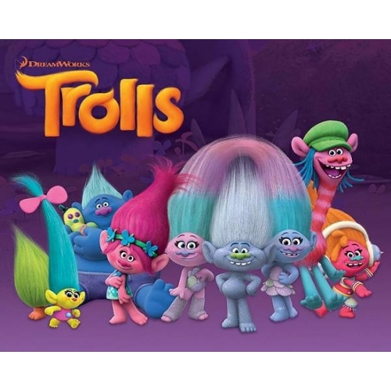 Decoratie poster Trolls characters 40 x 50 cm