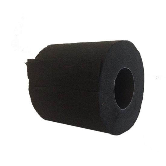 Decoratie zwart toiletpapier