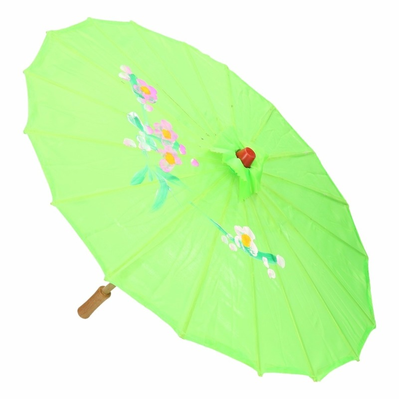 Decoratieve Chinese paraplu groen