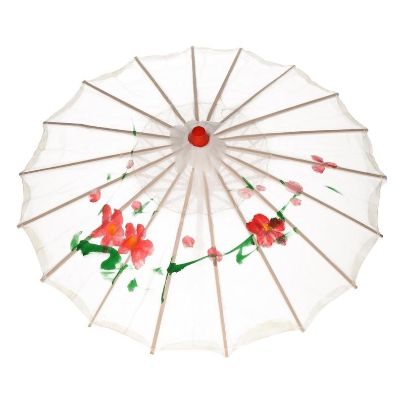 Decoratieve Chinese paraplu wit