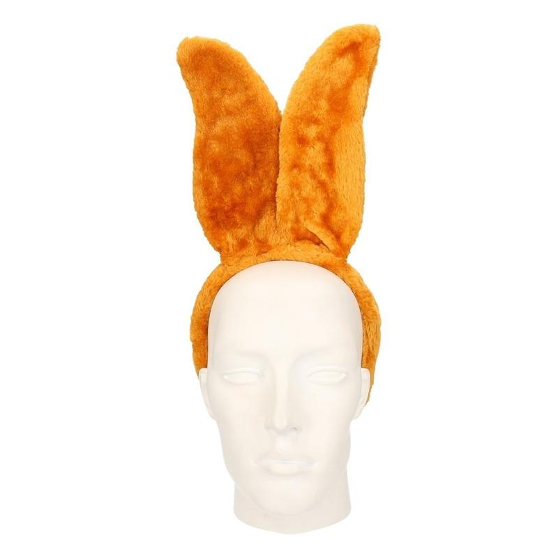 Diadeem konijn/haas lichtbruin voor volwassenen