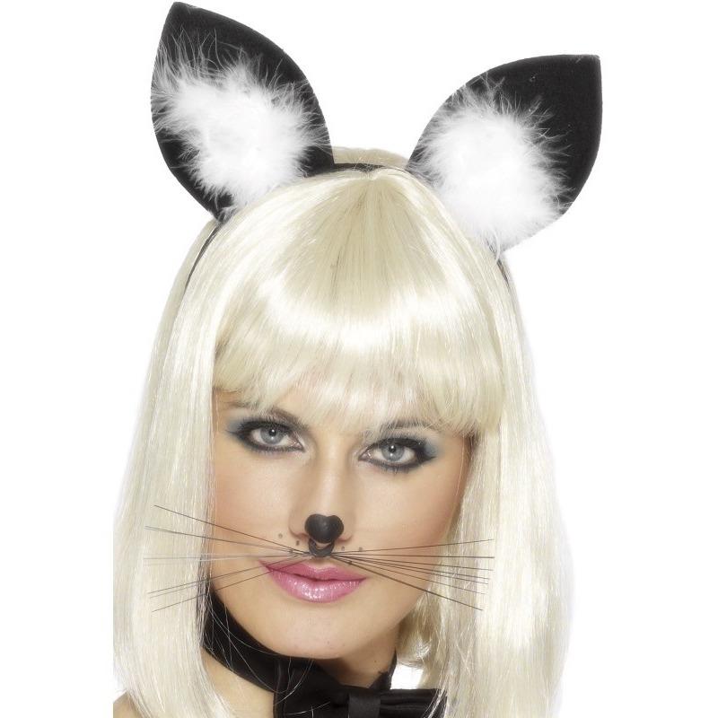 Diadeem met katten/poezen oren voor dames