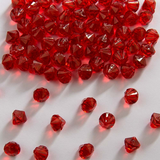 Diamantjes rood 9 mm
