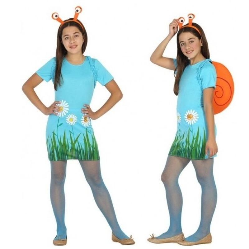 Dieren verkleed jurk/jurkje slak/slakken voor meisjes