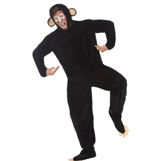 Dierenpak apen/chimpansee verkleedkostuum voor volwassenen