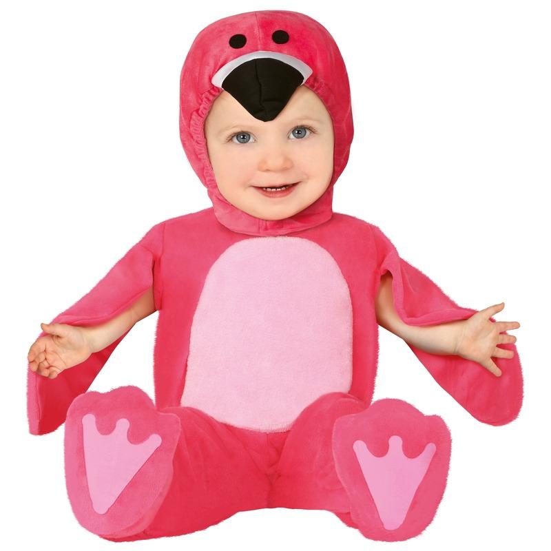 Dierenpak flamingo verkleed kostuum voor baby/peuter 12-24 mnd