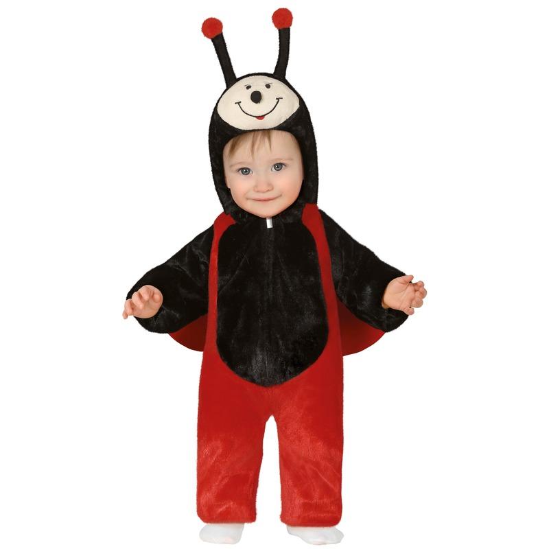 Dierenpak lieveheersbeestje kostuum voor peuters12-18 maanden