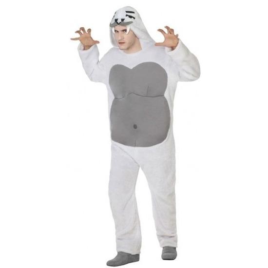 Dierenpak yeti verkleed kostuum voor volwassenen