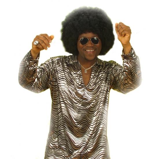 Disco fever shirt zilver