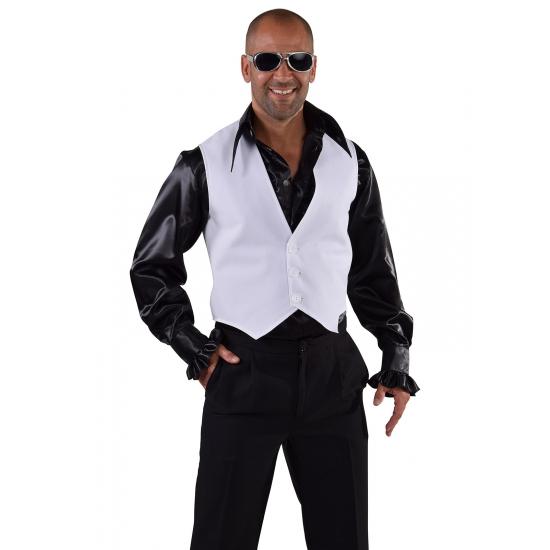 Disco gilet wit voor heren