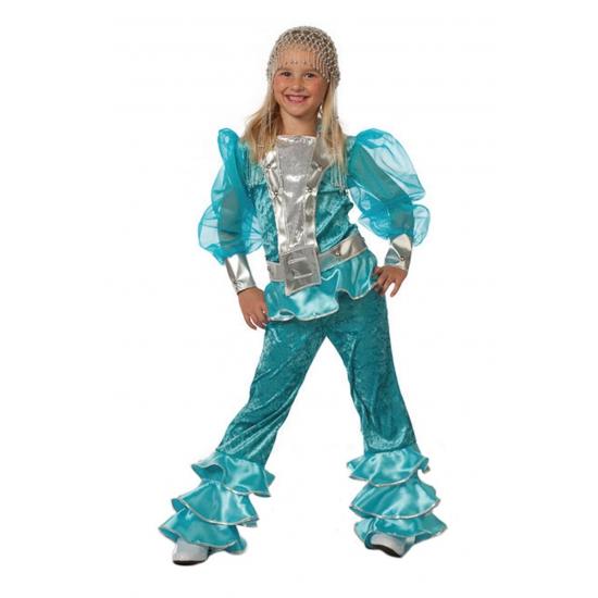 Disco kinder verkleedkleding blauw