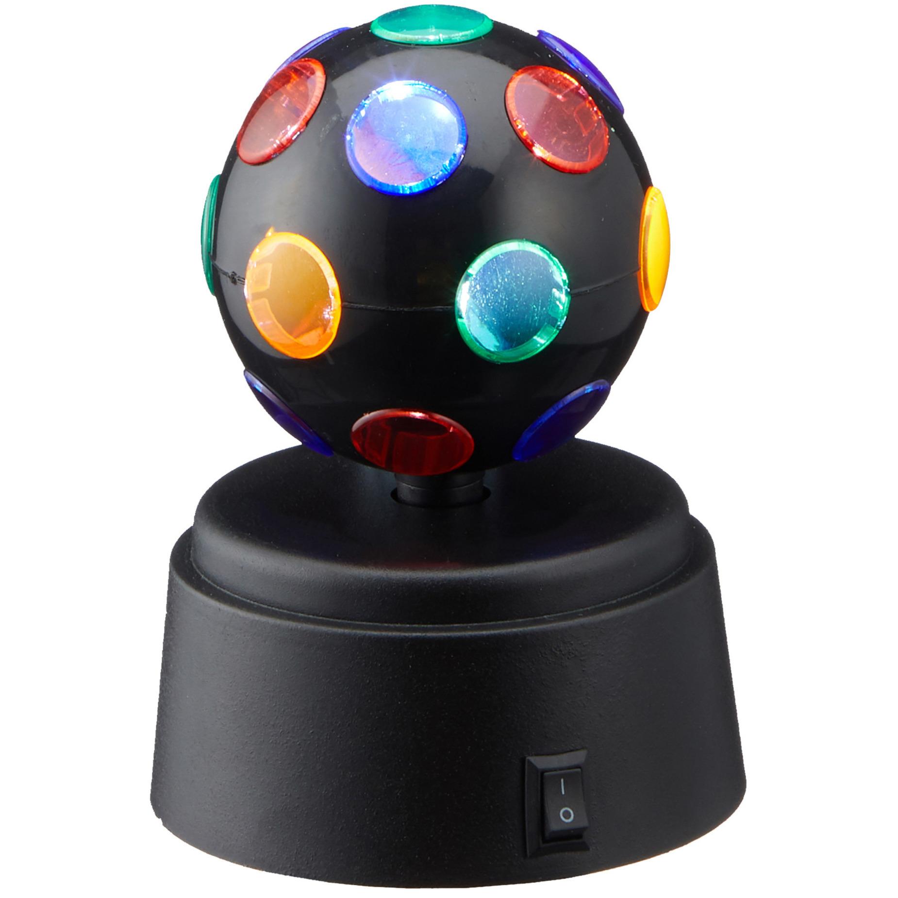 Disco lamp/licht roterend met verschillende kleuren op batterijen