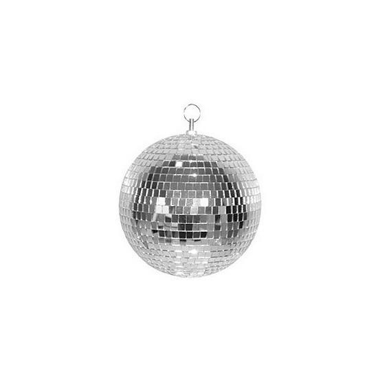 Disco spiegel bal zilver 30 cm