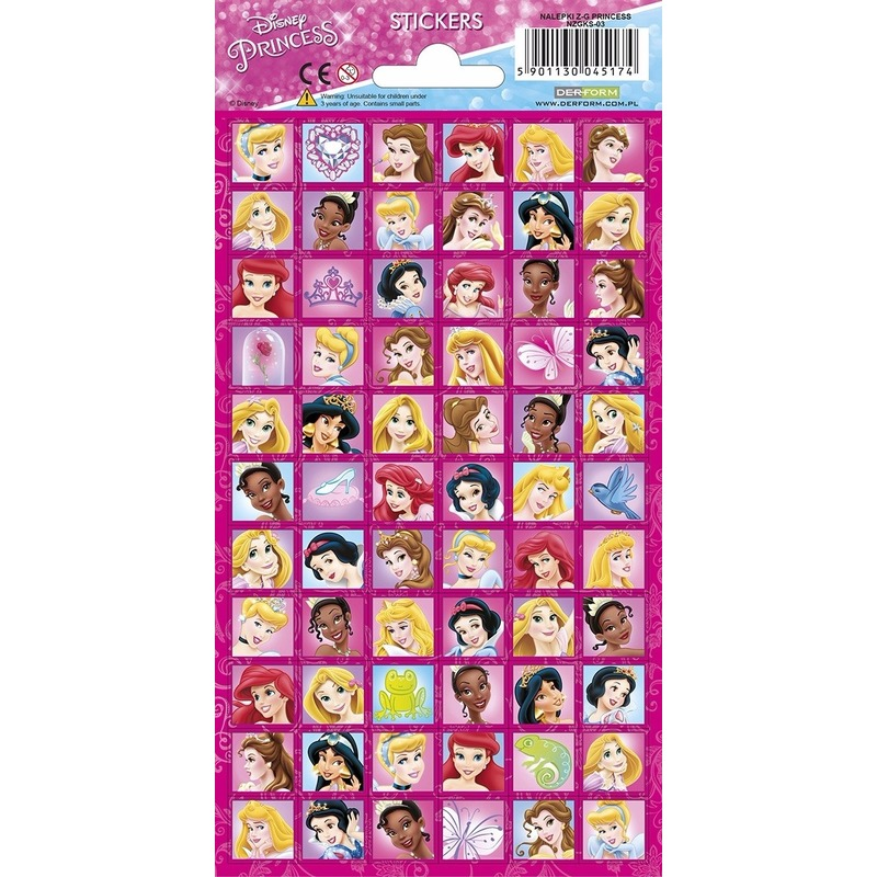 Disney prinsessen stickervel 66 stickers