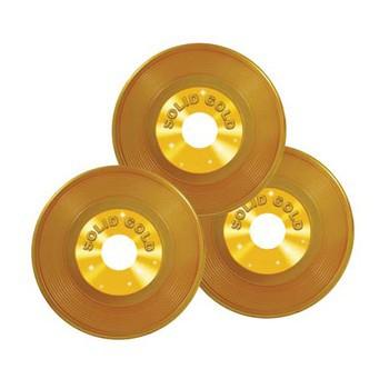 Drie gouden platen 3 stuks 23 cm