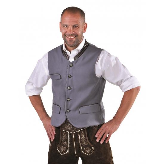 Duitse verkleedkleding gilet grijs