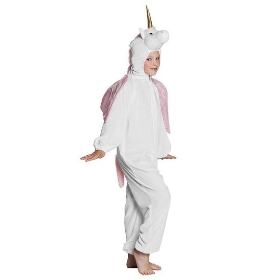 Eenhoorn dieren onesie/kostuum voor kinderen wit