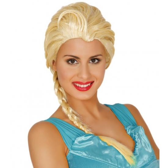 Elsa prinsessen pruik
