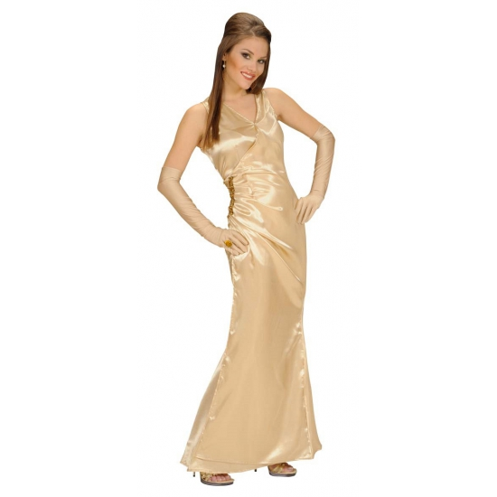 Feest jurk voor dames goud