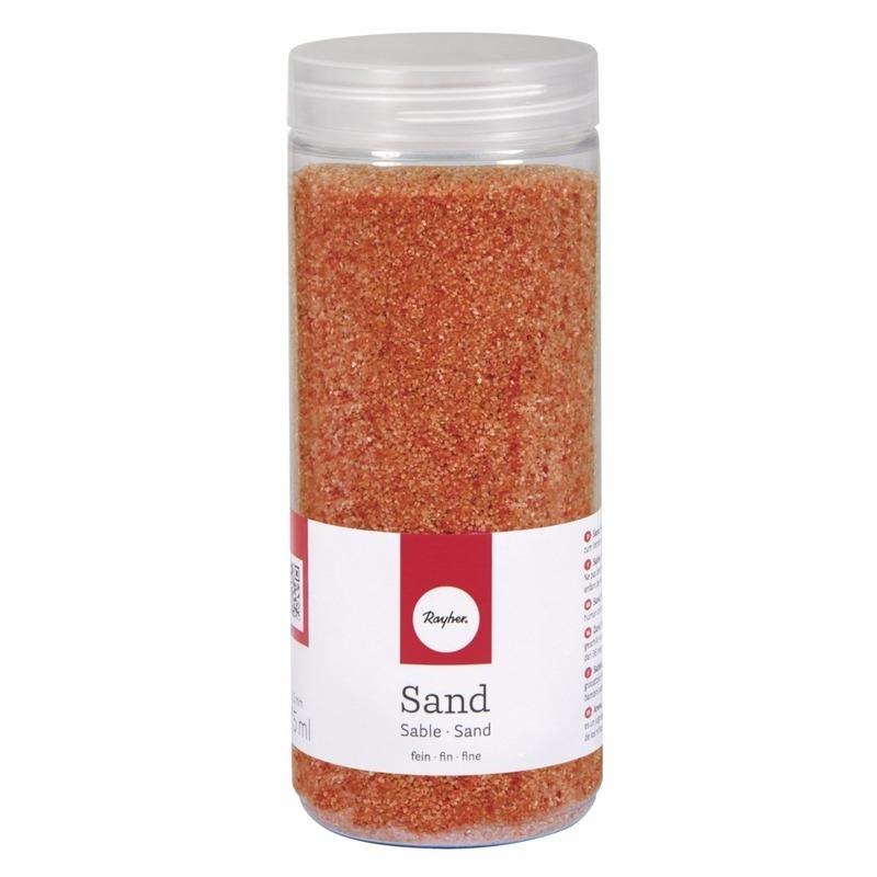 Fijn decoratie zand oranje 475 ml