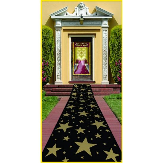 Film feest loper zwart met sterren 3 meter