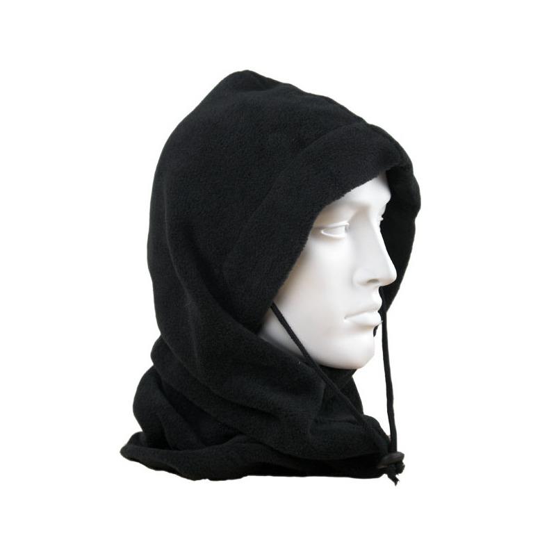 Fleece bivakmuts zwart