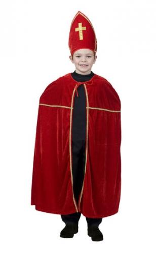 Merkloos Fluweelachtig Sinterklaas kostuum voor kids