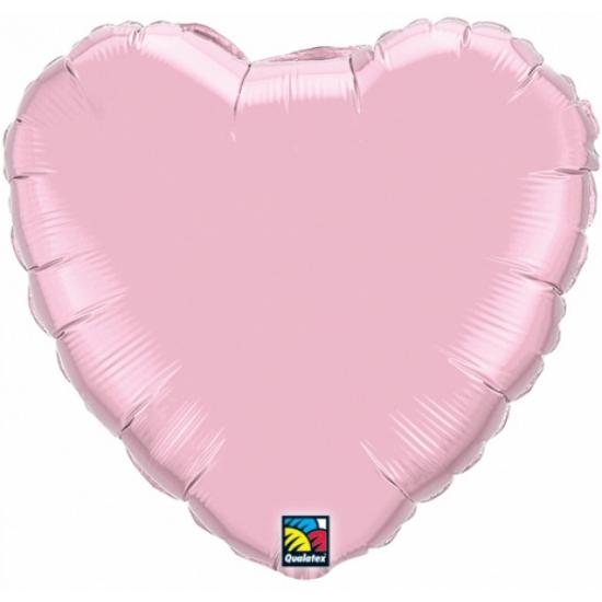 Folie ballon lichtroze hart 45 cm