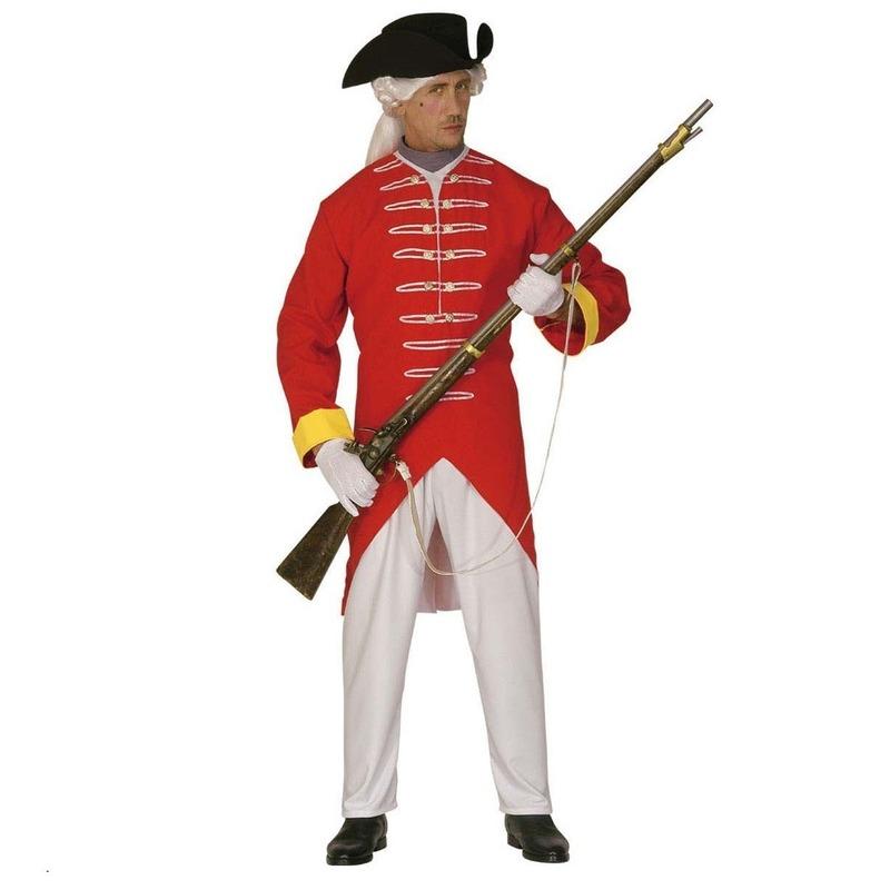 Franse soldaten pak in de kleur rood