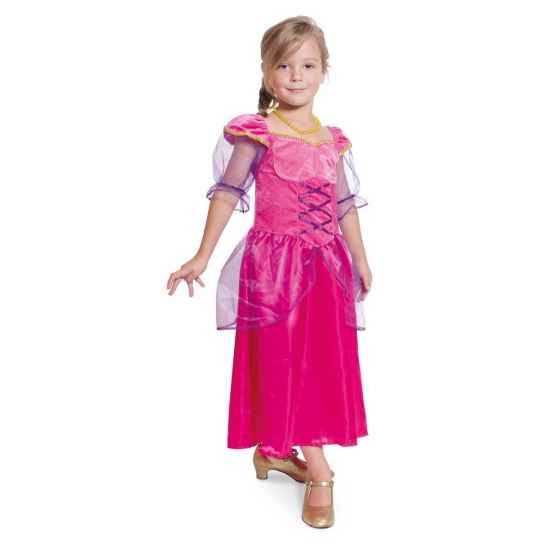 Fuchsia roze prinsessen jurk meisjes
