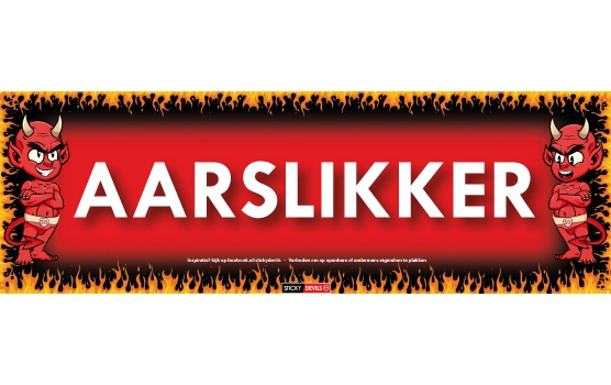 Fun en Fop sticker Aarslikker