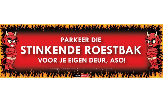 Fun en Fop sticker Stinkende roestbak