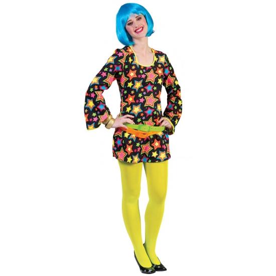 Funky disco jurk met sterren
