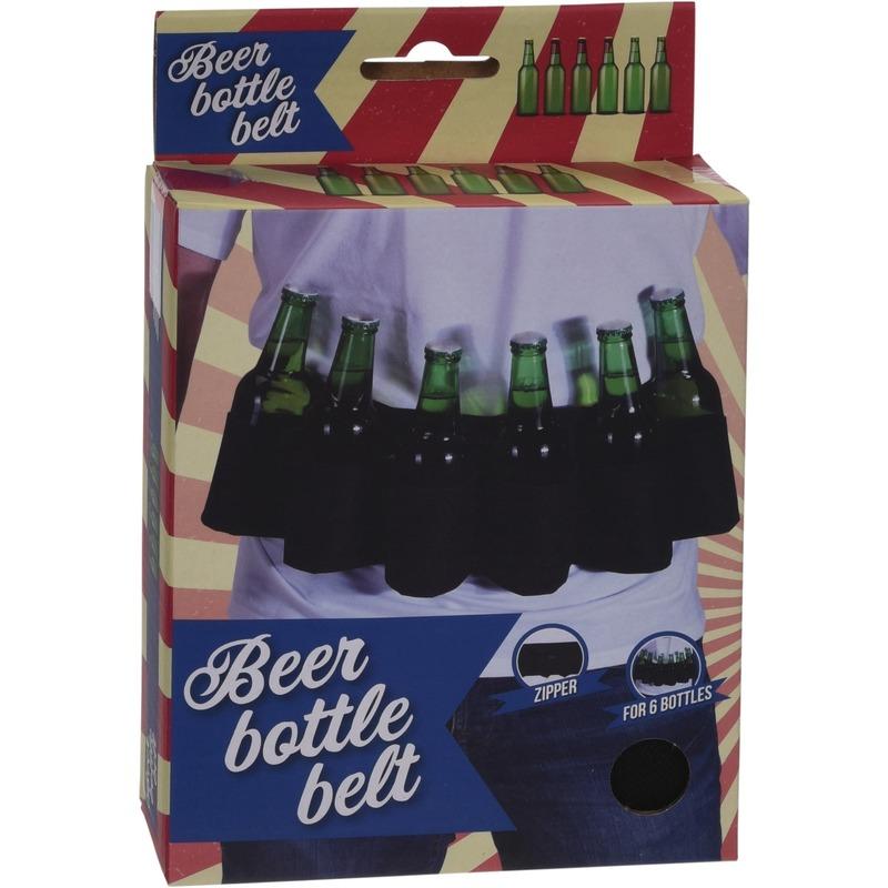 Gadget riem voor 6x bierflesjes
