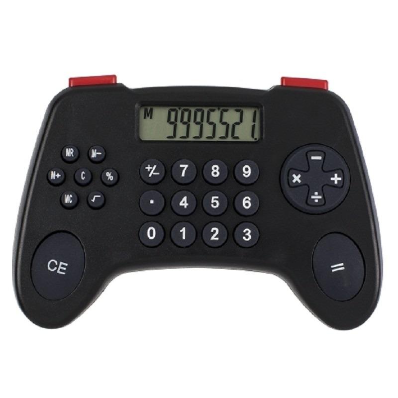 Game controller rekenmachine zwart 12 cm