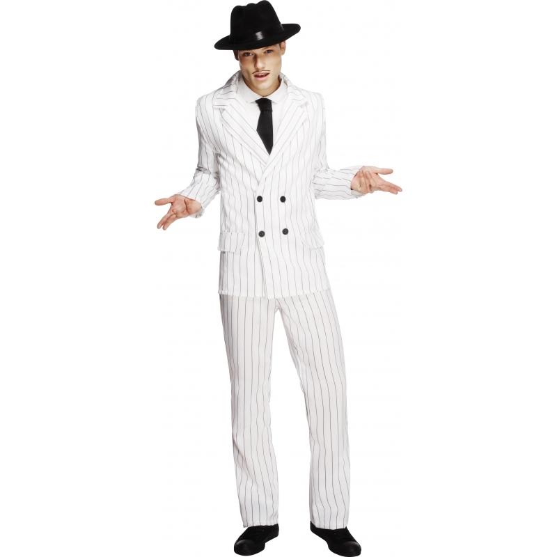 Gangster thema verkleedkleding wit