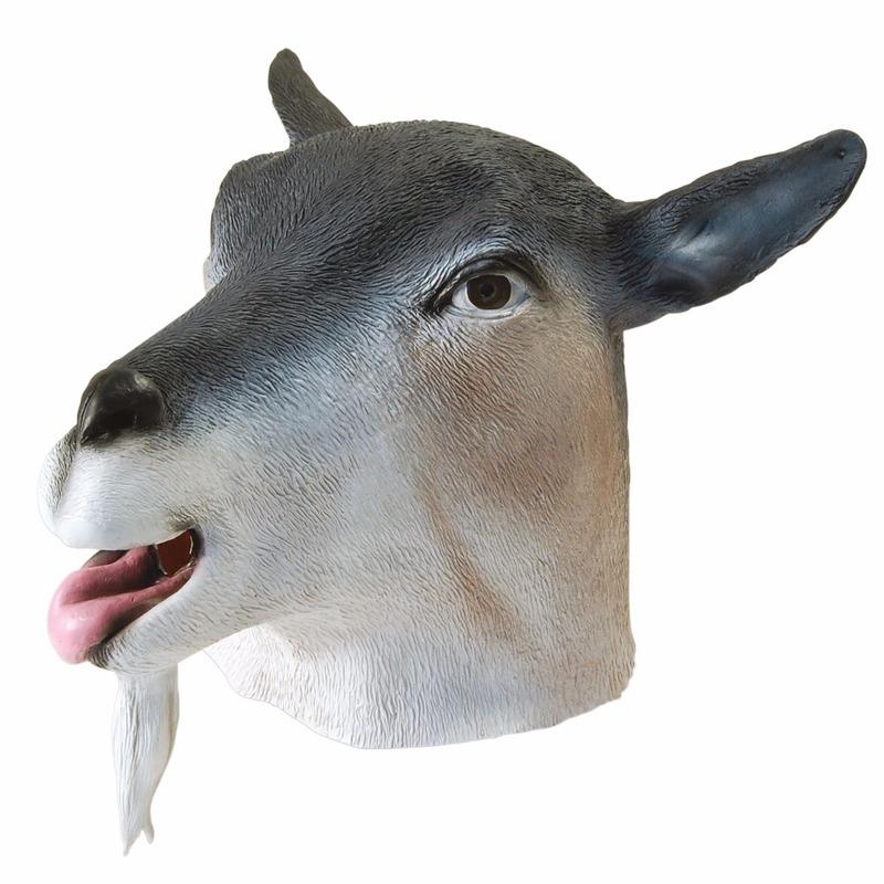 Geitjes masker grijs