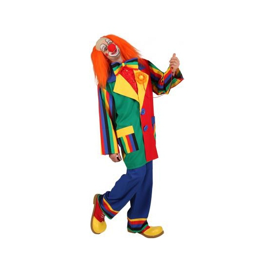 Gekleurde heren clown jas