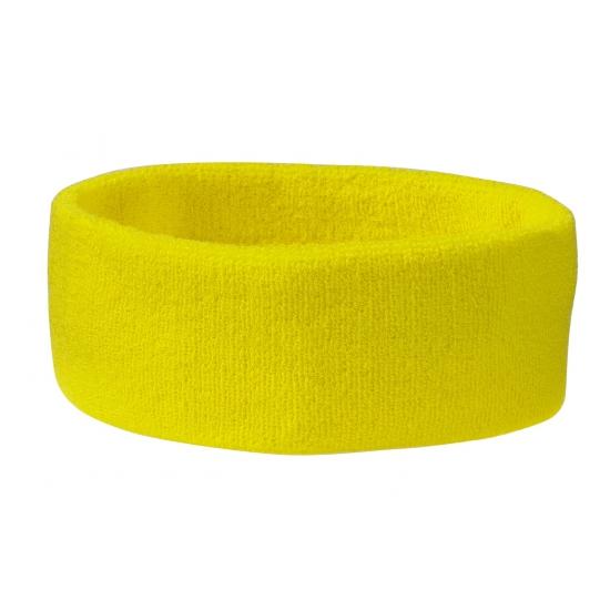 Gele hoofd zweetbanden