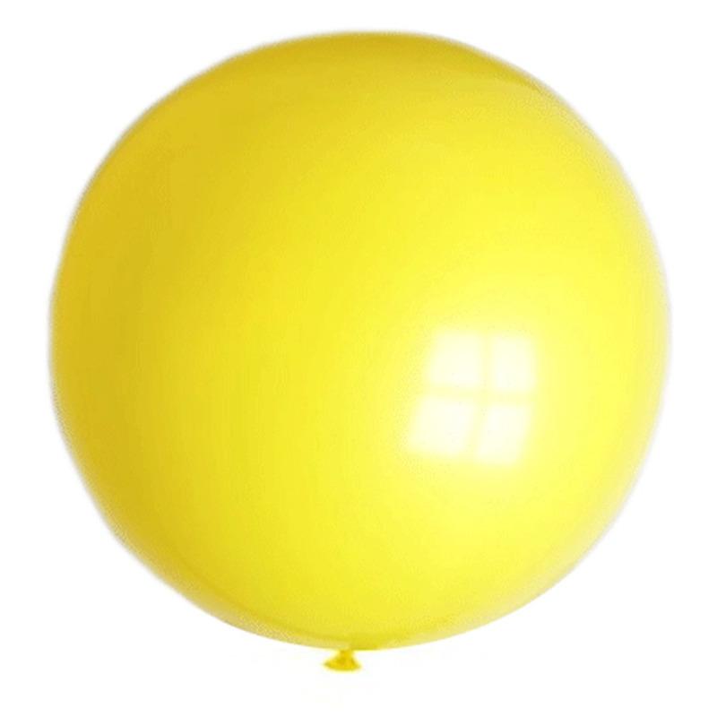 Gele mega ballonnen 90 cm diameter