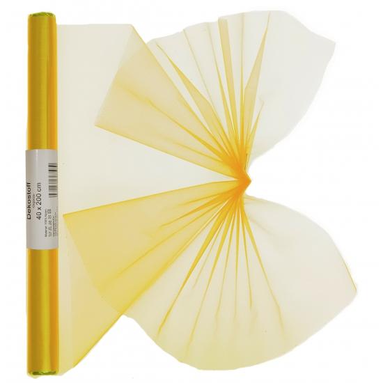 Gele organza stof 40 x 200 cm
