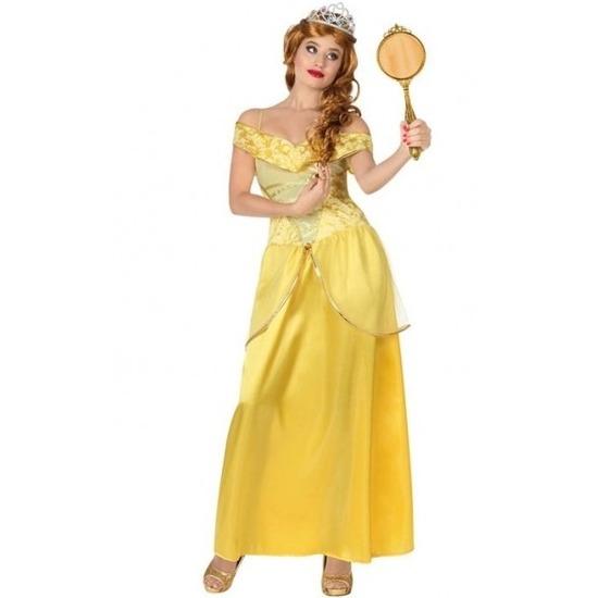 Merkloos Gele prinsessen verkleed jurk voor dames