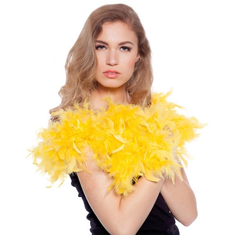 Gele verkleed boa 180 cm