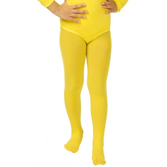 Gele verkleed panty/maillot voor meisjes/kinderen