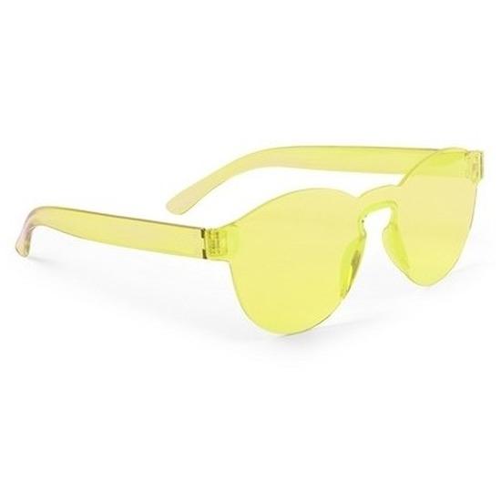 Gele verkleed zonnebril voor volwassenen