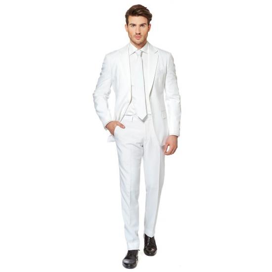 Getailleerd wit pak voor heren
