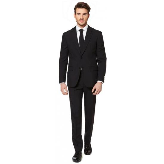 Getailleerd zwart pak voor heren