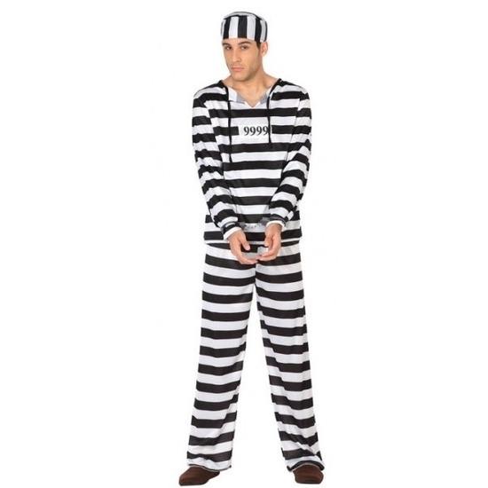 Gevangene/boef Clyde verkleed kostuum voor heren